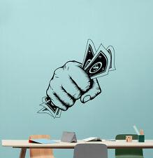 Money Hand Wall Decal Dollar Office Vinyl Sticker Business Decor Poster 85hor