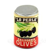 Dolls House Miniature La Perla Brand Olives Can (1930s)