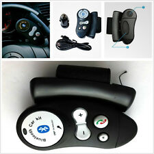 Black Car Steering Wheel Wireless Bluetooth Telephone Handsfree Speaker For Ford