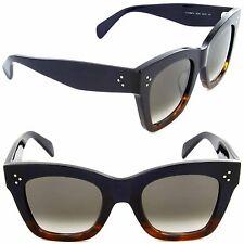 57a1090b92e Celine CL 41098 S QLT Z3 Cat Eye Sunglasses Havana Blue Brown Gradient Lens