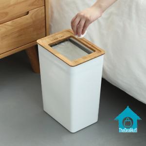 Trash Can Garbage Bin Waste Storage Bucket Office Home High Quality PP Wood Item