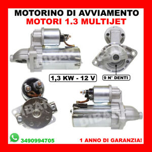 MOTORINO DI AVVIAMENTO FIAT - ALFA - LANCIA MOTORI 1.3 MULTIJET DAL 2001 D6G1 2