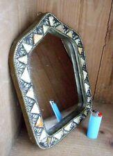 Miroir oriental marocain métal laiton, os