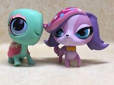 Littlest Pet Shop LPS #3023 Zoe Trent Dog And #3024 Turtle Preowned