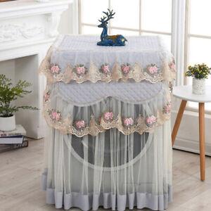 Waschmaschinenbezug 60*60*85cm Waschmaschine Waschbar Schutz Spitze Rüsch WY