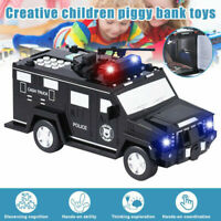 Smart Music Password Banknote Car Coin Bank Figure Toy Save Money Box Xmas  +1