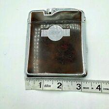 RONSON 1940s Ten A Case Cigarette Lighter Chrome Enamel RTF Monogram UNTESTED