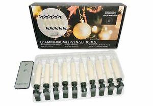 LED Weihnachtskerzen Weihnachtsbaumkerzen 10X Warmweiß kabellose mit Batterie
