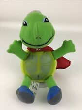 """Wonder Pets Tuck Turtle Green With Red Cape Hat 8"""" Plush Fisher Price 2007"""