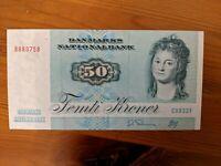 50 Denmark Kroner banknote - Danmarks nationalbank femti serie 1972