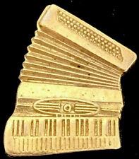 Vintage Accordion Gold Tone Lapel Pin