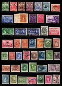 Lot 45 good stamps Newfoundland Canada used