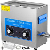 10L Pulitore ad Ultrasuoni Timer Riscaldatore Manico 40KHz Cesto della vasca