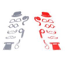 9pcs Male Hat Glasses Beard Pipe Cutting Dies Stencils For Scrapbook Paper Craft