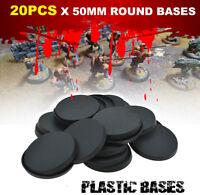 50mm - 20pcs Round Bases Gaming Miniatures For wargame Warhemmer Figures Model