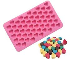 US! Silicone Mold Heart Chocolate Ice Cube Tray 55 DIY Soap Mould Jello Candy
