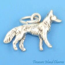 German Shepherd Dog Breed 3D .925 Solid Sterling Silver Charm MADE IN USA