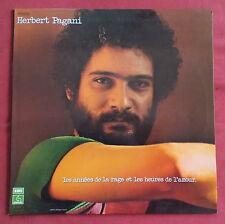HERBERT PAGANI  LP ORIG FR  LES ANNEES DE LA RAGE ET LES HEURES DE L'AMOUR