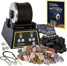 National Geographic Professional Rock Tumbler Kit 2lb Barrel 1lb GEMSTONE 4 Grit