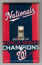 Washington Nationals World Series Champions Light Switch Cover Plate Home Decor
