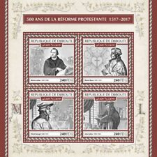 Djibouti 2017 Protestant Reformation 4 Stamp Sheet Scott 1326 DJB17619a