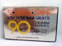 SOUNDCRAFT 90 BLANK AUDIO CASSETTE TAPE NEW RARE 1970 YEAR USA MADE