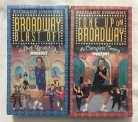 Sealed Richard Simmons Broadway Series Workout VHS 2 - Video Tapes Lot Brand New