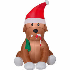 CHRISTMAS SANTA ENGLISH BULLDOG DOG AIRBLOWN INFLATABLE YARD DECORATION