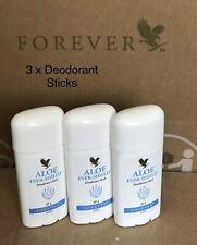 3 X Forever Living Aloe Vera Ever Shield Deodorant Stick New Quality Product