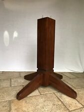 Solid Oak Wood Pedestal Base Espresso Finish (Counter Height Table)
