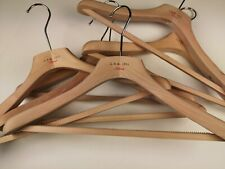 """LBM 1911 Set of 2 SUIT Thick Flat Wooden Hangers Made in Italy 42cm 17"""""""