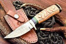 Rare!!! Custom Handmade Damascus Steel Blade Hunting Knife | Superb Olive Wood