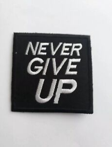 Never Give Up LFC Liverpool FC 3 Inch Iron Or Sew On Patch Badge Patches