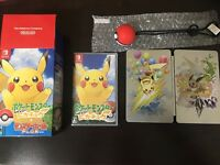 Nintendo Switch Pokemon Let's Go Pikachu Monster ball Plus set Japan NEW F/S P