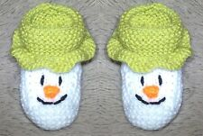 KNITTING PATTERN - The Snowman inspired booties fit 0 - 3 month old Baby