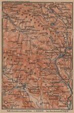 FORESTA Bavarese/Bohémien bayrischer/Böhmerwald. bodenmais zelezna Ruda 1907 Mappa