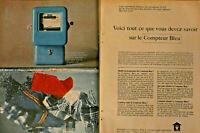 PUBLICITÉ DE PRESSE 1964 EDF LE COMPTEUR BLEU TOUT CE QUE VOUS DEVEZ SAVOIR