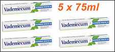 5 x Vademecum Expert Express White 10 Whitening Toothpaste 75ml Oral Care