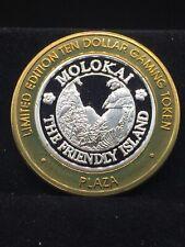 $10 .999 fine silver casino gaming token THE FRIENDLY ISLAND MOLOKAT