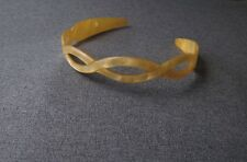 VINTAGE BRAIDED MARBLED CELLULOID HAIRBAND FRANCE