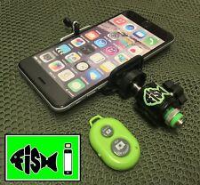 Phone Holder For Fishing Inc Bluetooth Remote. Bankstick Adaptor For Smartphone.