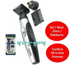 Wahl Cordless Shaver Mens Groomer Nose Ear Face Beard Hair Trimmer Neck Shave
