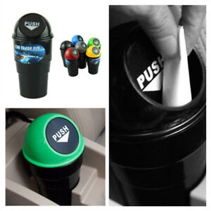 1 X Car Garbage Can Auto Trash Dust Boxes RUBBISH BIN DRINKS HOLDER VAN OFFICE