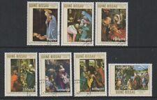 Guinea Bissau - 1989 Christmas (Paintings) set - F/U - SG 1182/8 (d)