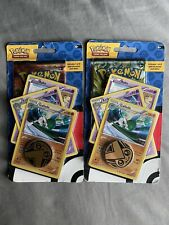 Pokemon Steam Siege 2 Blister Packs w/ Collectible Coin New and 3 Promo Cards.