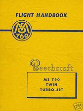 Morane-Saulnier MS.760 Paris Beechcraft flight manual check list 1950's archive
