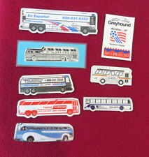 Lot of 8 Different Soft Plastic Bus Refrigerator Type Magnets - All Are Used