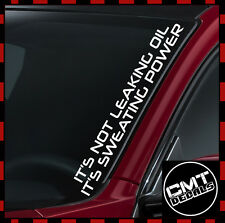 Sweating Power Car / Van Windscreen Decal Sticker DUB euro JDM -17 Colours 550mm