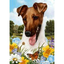 Summer House Flag - Brown Smooth Fox Terrier 18312