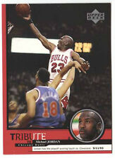 Michael Jordan 1999 Upper Deck Tribute Playoff scoring touch Basketball Card